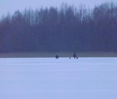 Bļitkotāji uz ezera