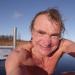 Pēc peldes ezerā 7. janvārī