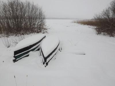 laivas ziemas guļā...