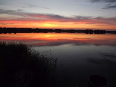 Vakara atblāzma Viļakas ezerā