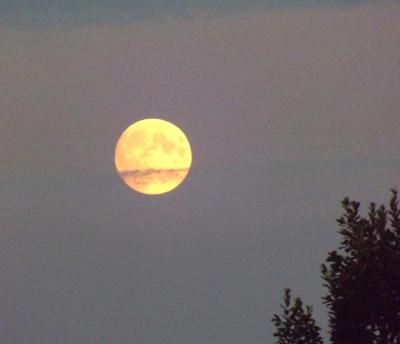 Mēness 26. jūlija vakarā...