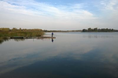 7. oktobrī pie ezeriņa
