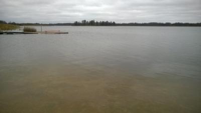 Viļakas ezers 2. novembra rītā